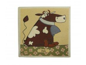 1597 dekoracni povlak na polstar krava velky