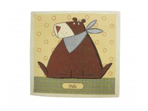1606 dekoracni povlak na polstar medved velky