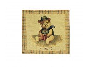 1609 dekoracni povlak na polstar medved velky