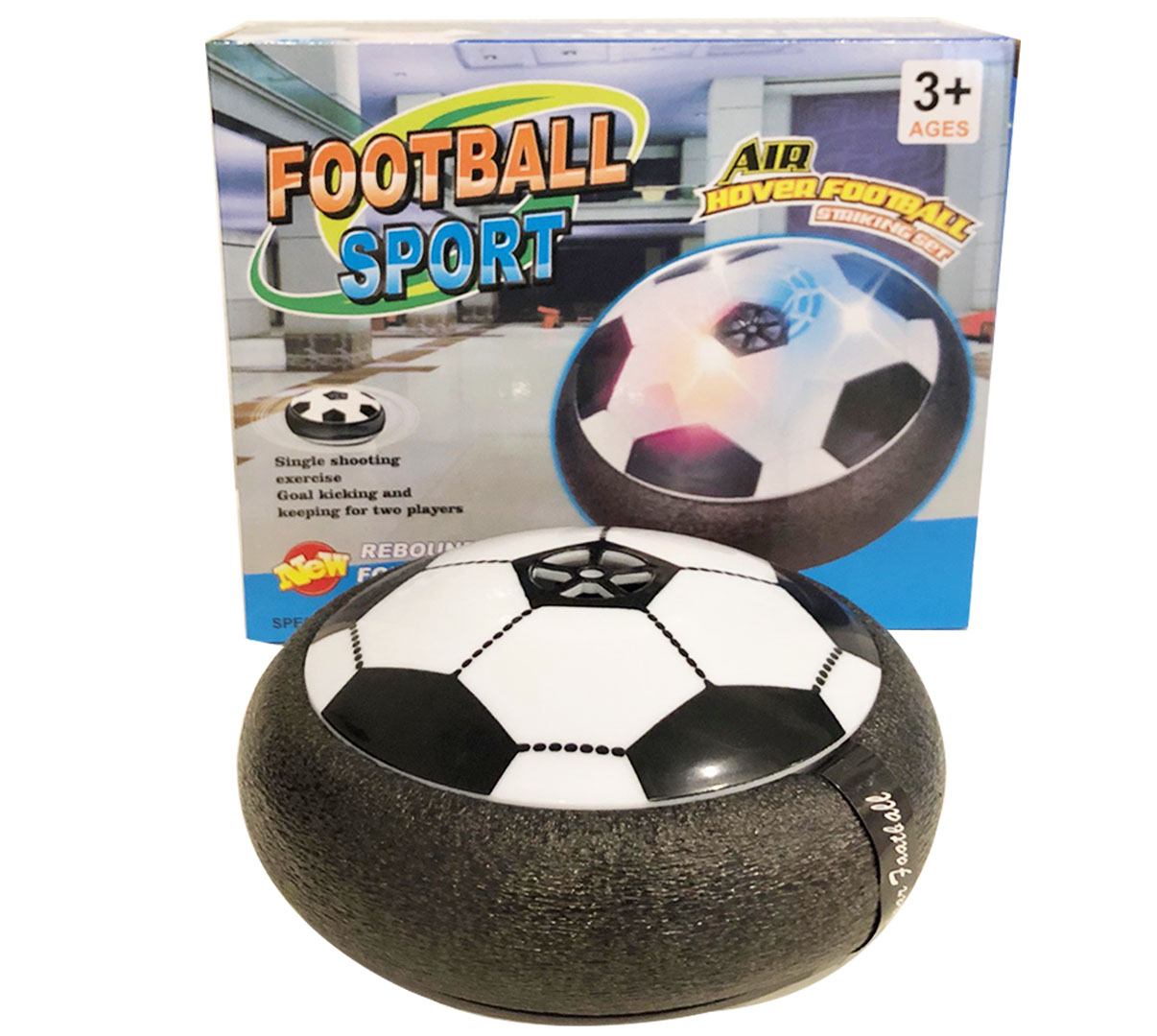 TechM Pozemní míč Hover Ball - Černý