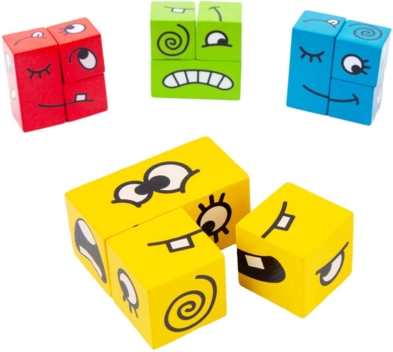Puzzle stavební kostky - FACEMATCH