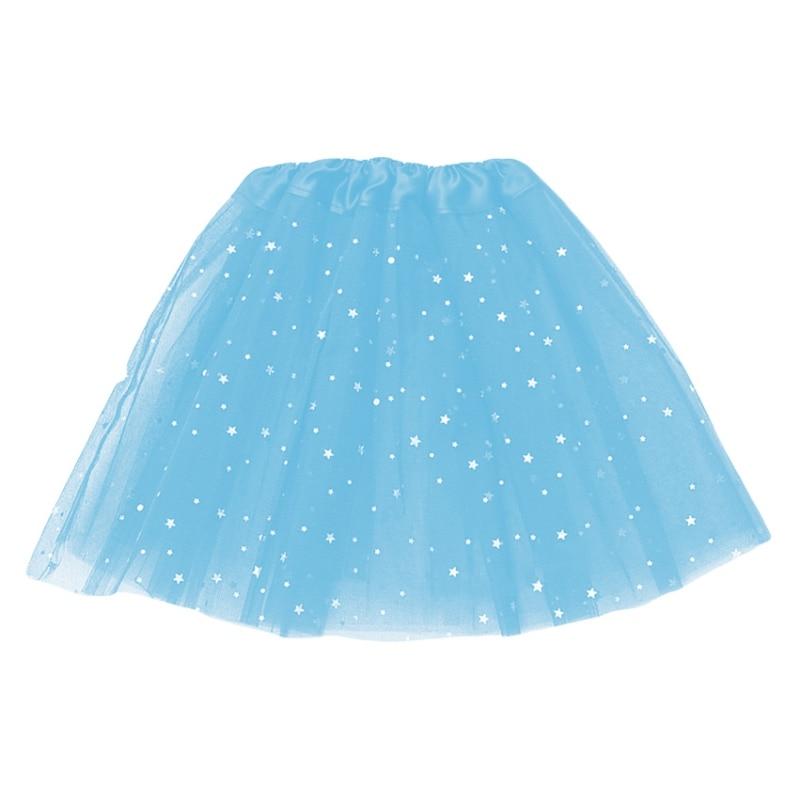 LED svítící sukně Princess- modrá