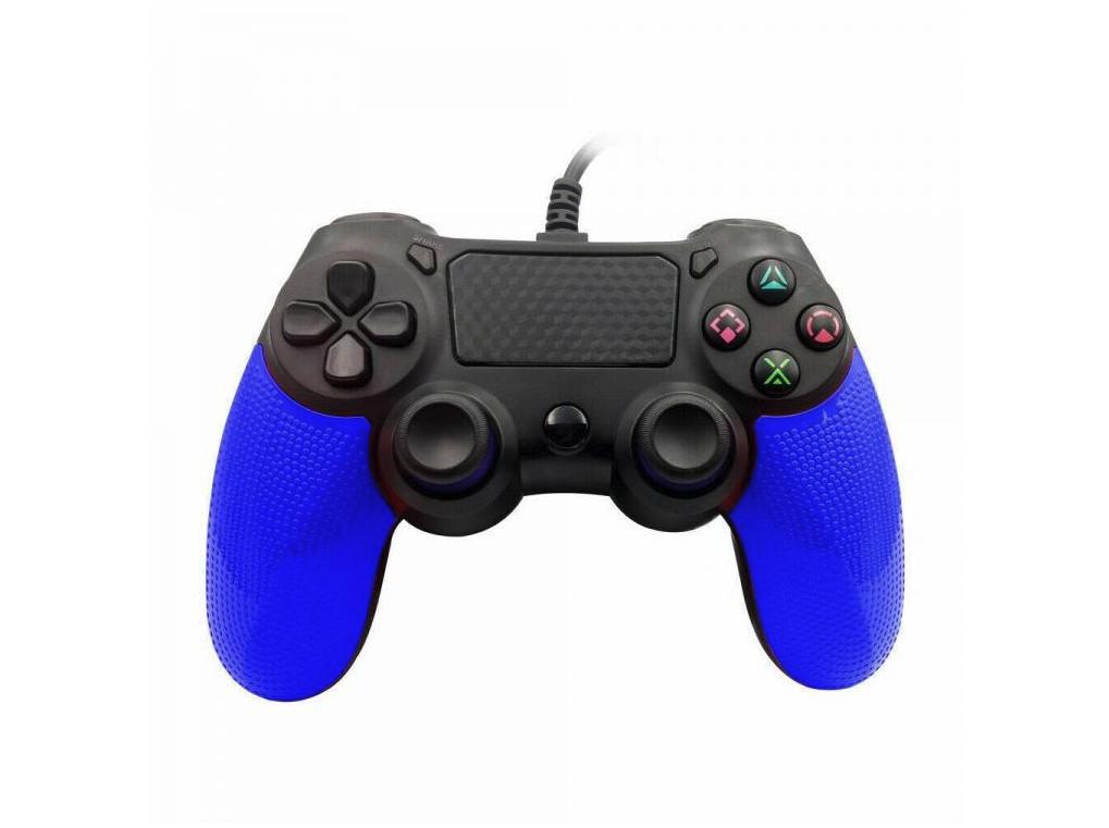 Ovladač pro PS4 s kabelem - Twin Vibration IV -Modrá
