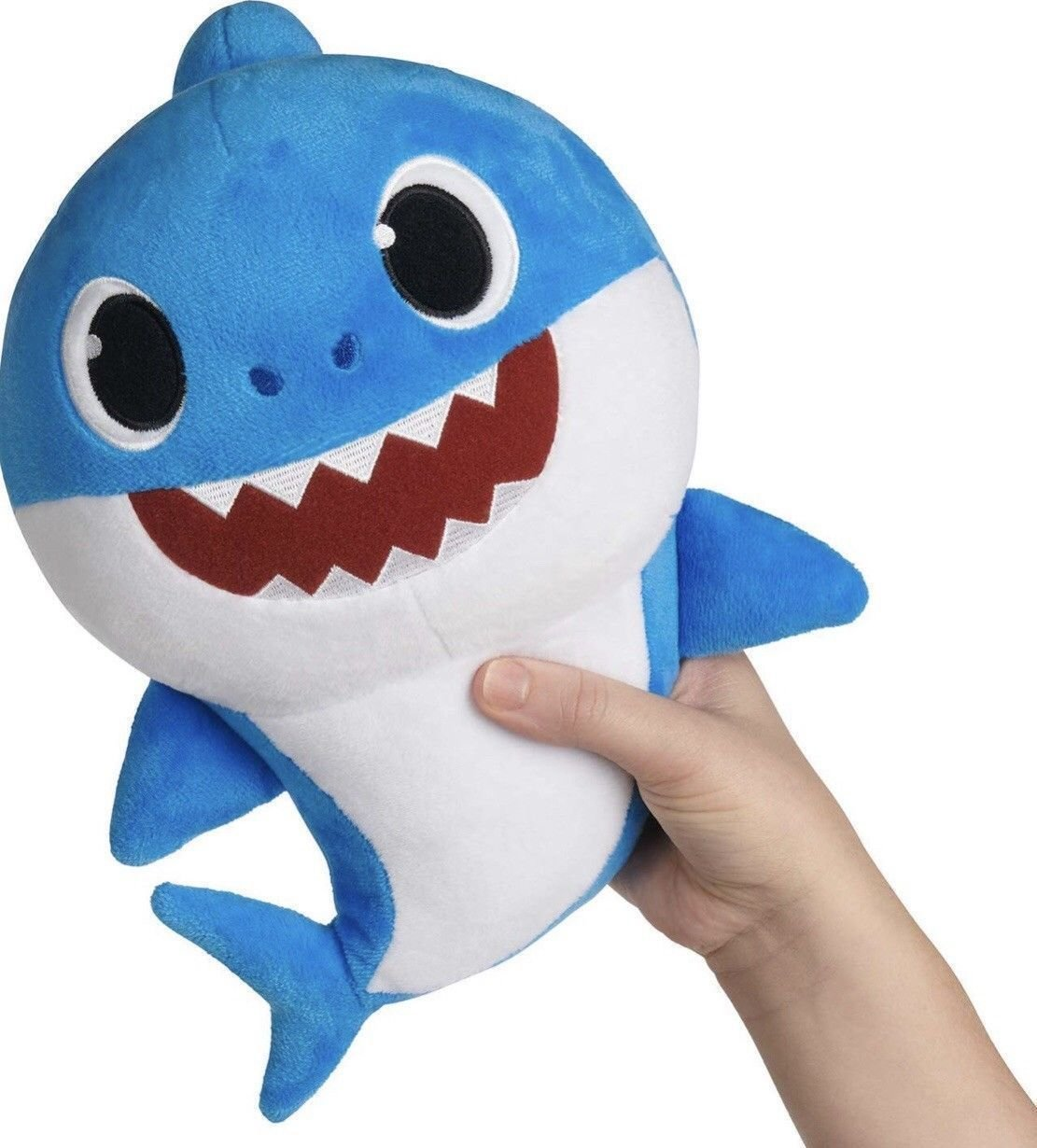 Baby Shark plyšový na baterie se zvukem- modrý