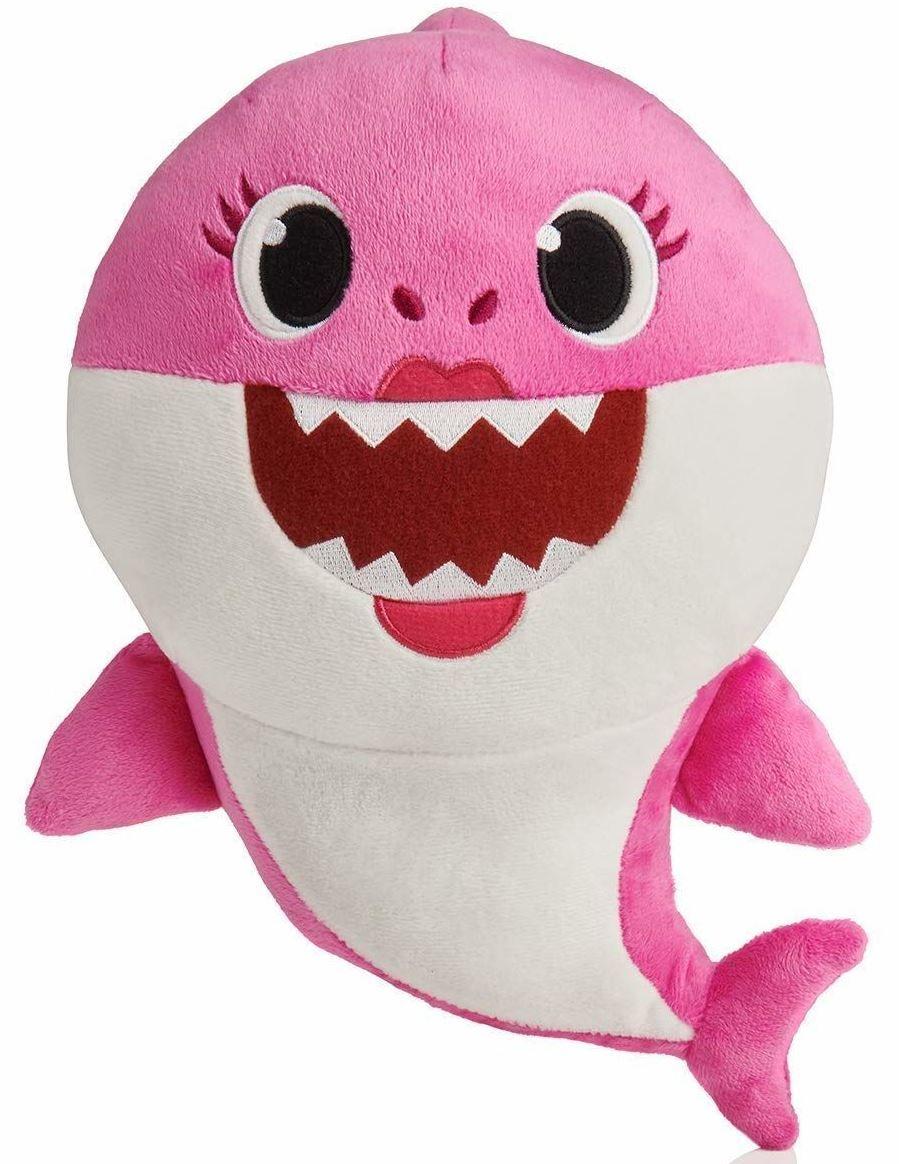 Baby Shark plyšový na baterie se zvukem- růžový