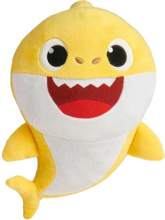 Baby Shark plyšový na baterie se zvukem- žlutý