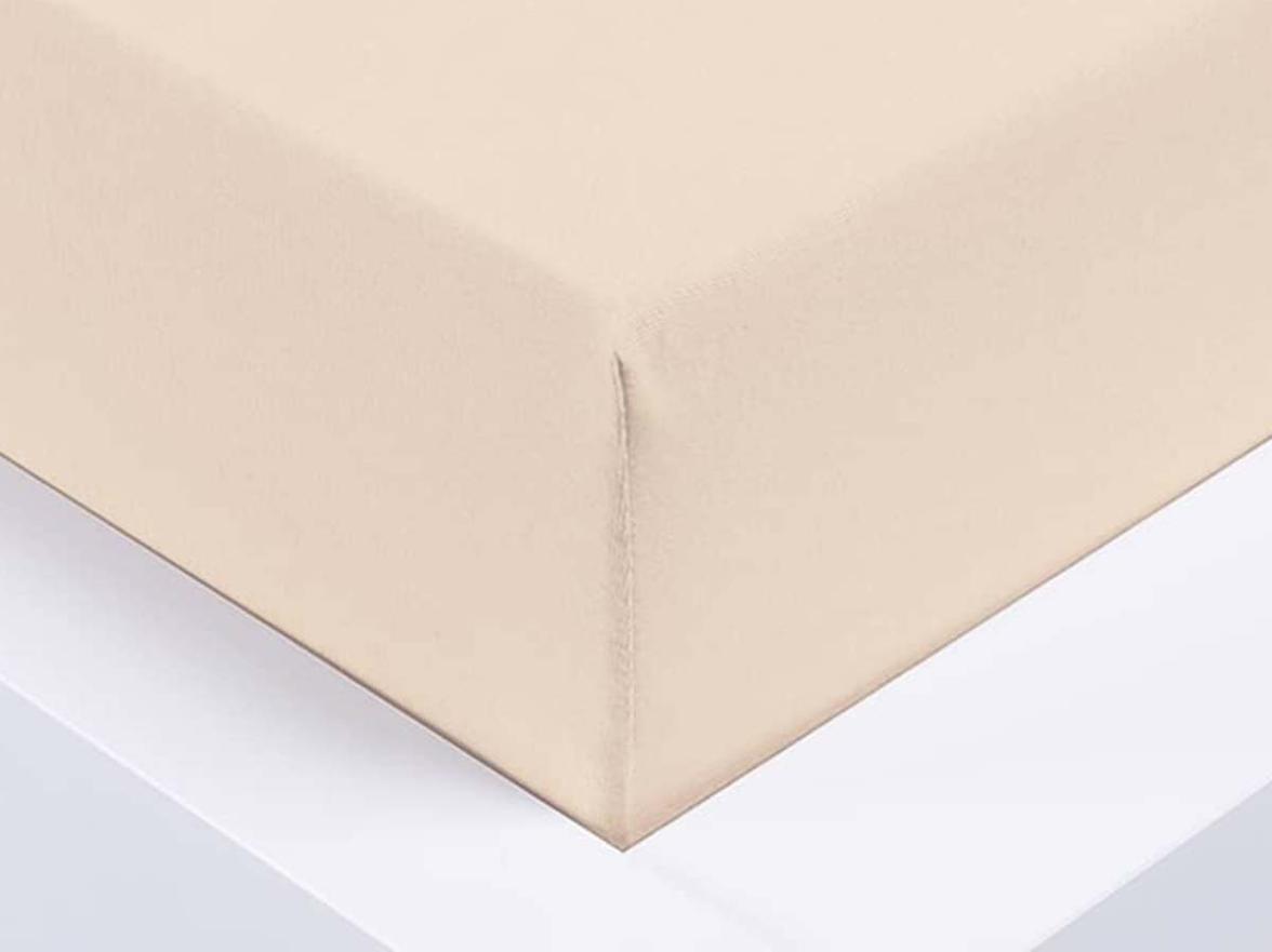 Jersey prostěradlo Exclusive jednolůžko - bílá káva 90x200 cm