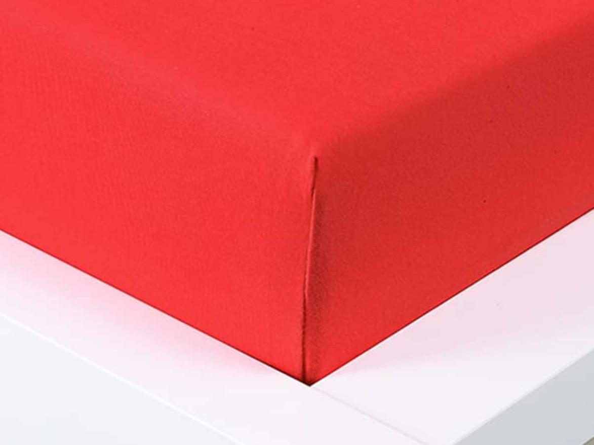 Jersey prostěradlo Exclusive jednolůžko - červená 90x200 cm
