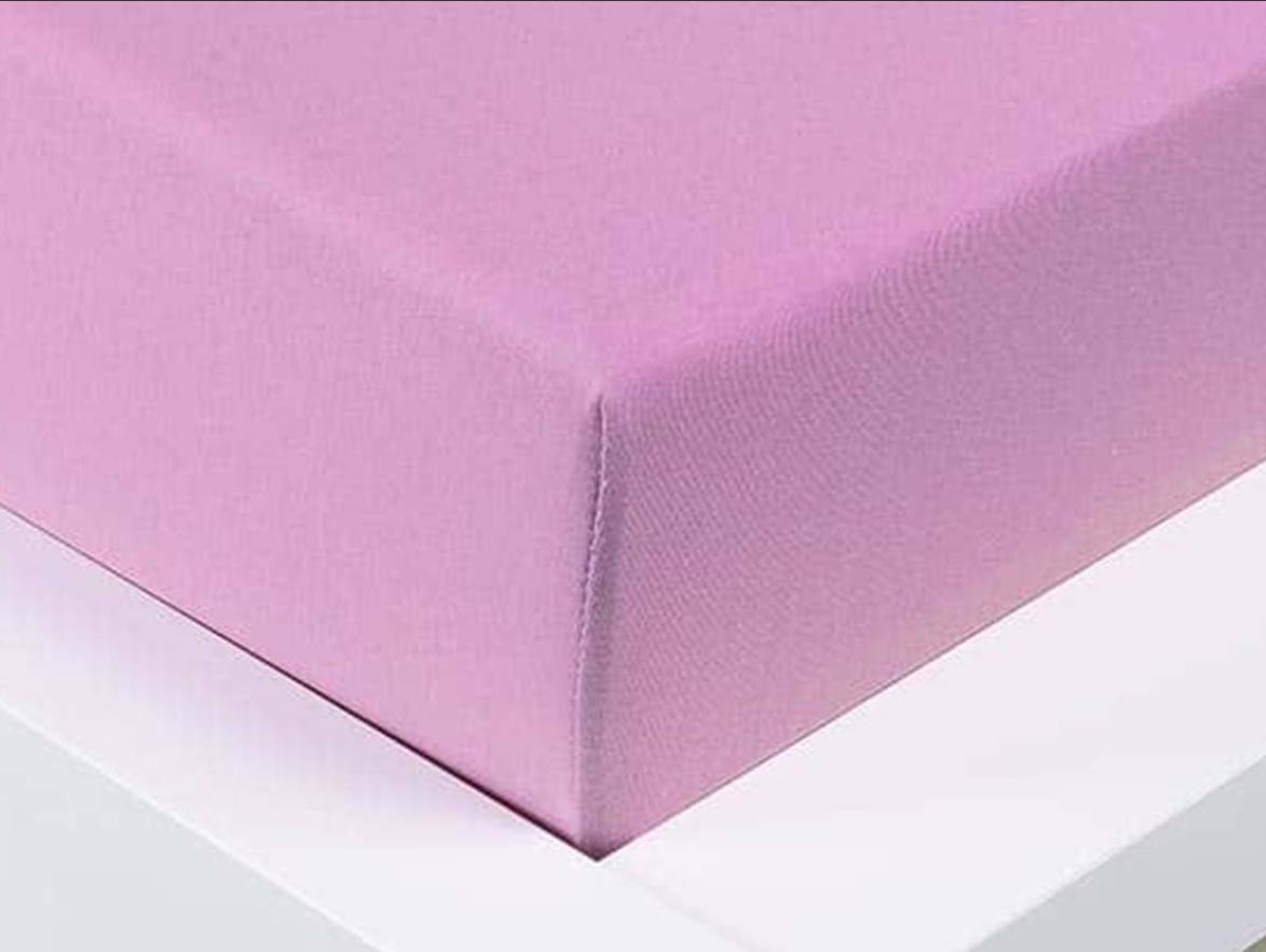 Jersey prostěradlo Exclusive jednolůžko - levandulová 90x200 cm