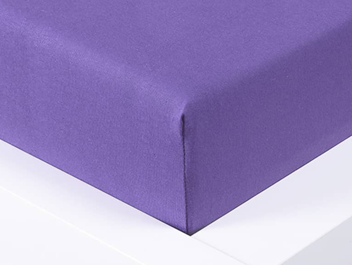 Jersey prostěradlo Exclusive dvoulůžko - fialová 180x200 cm
