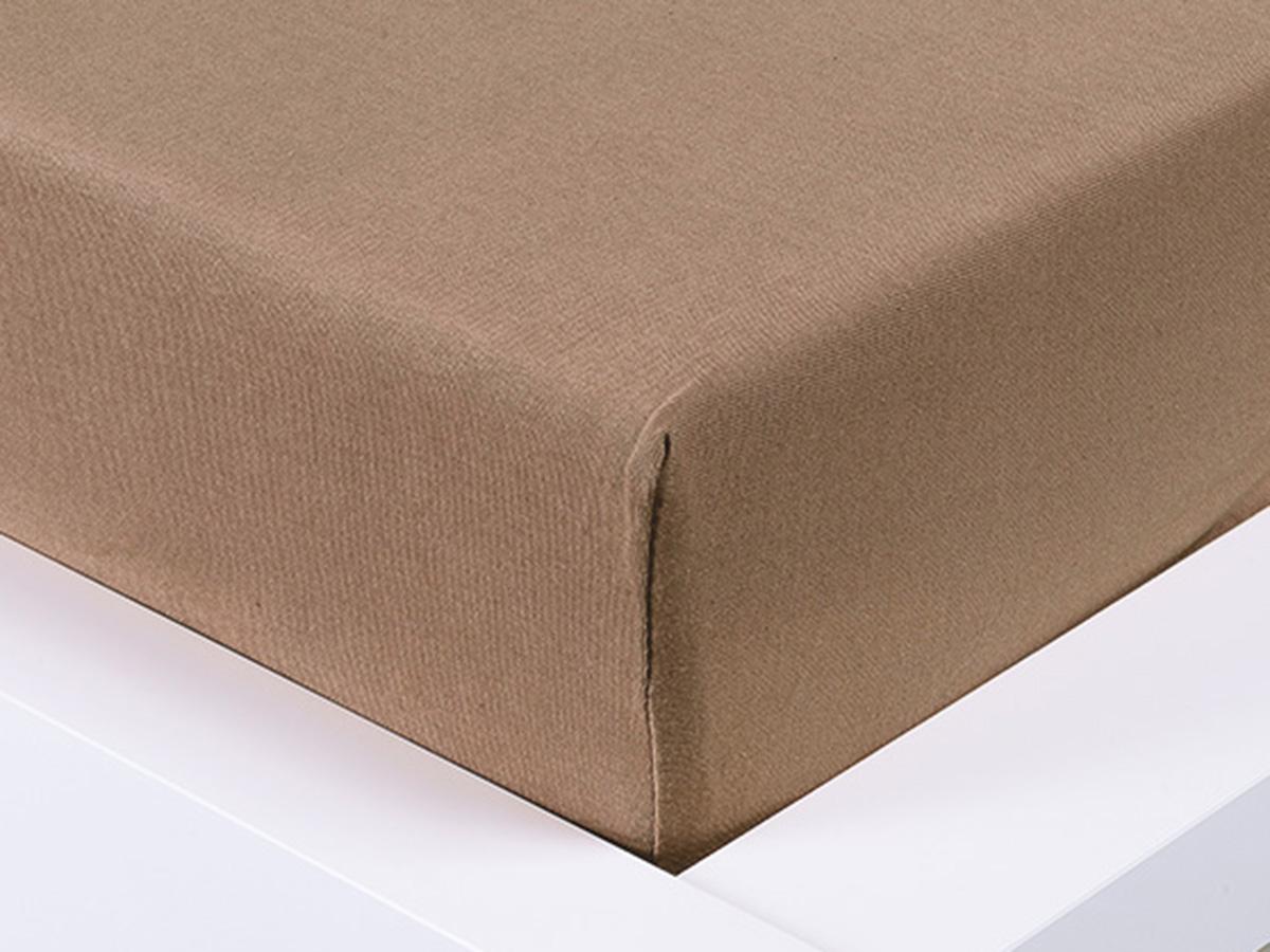 Jersey prostěradlo Exclusive dvoulůžko - hnědá 180x200 cm