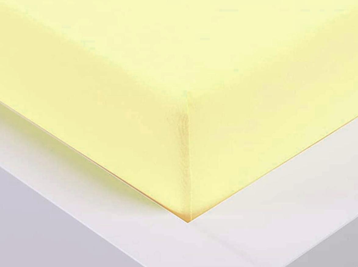 Jersey prostěradlo Exclusive dvoulůžko - vanilková 180x200 cm
