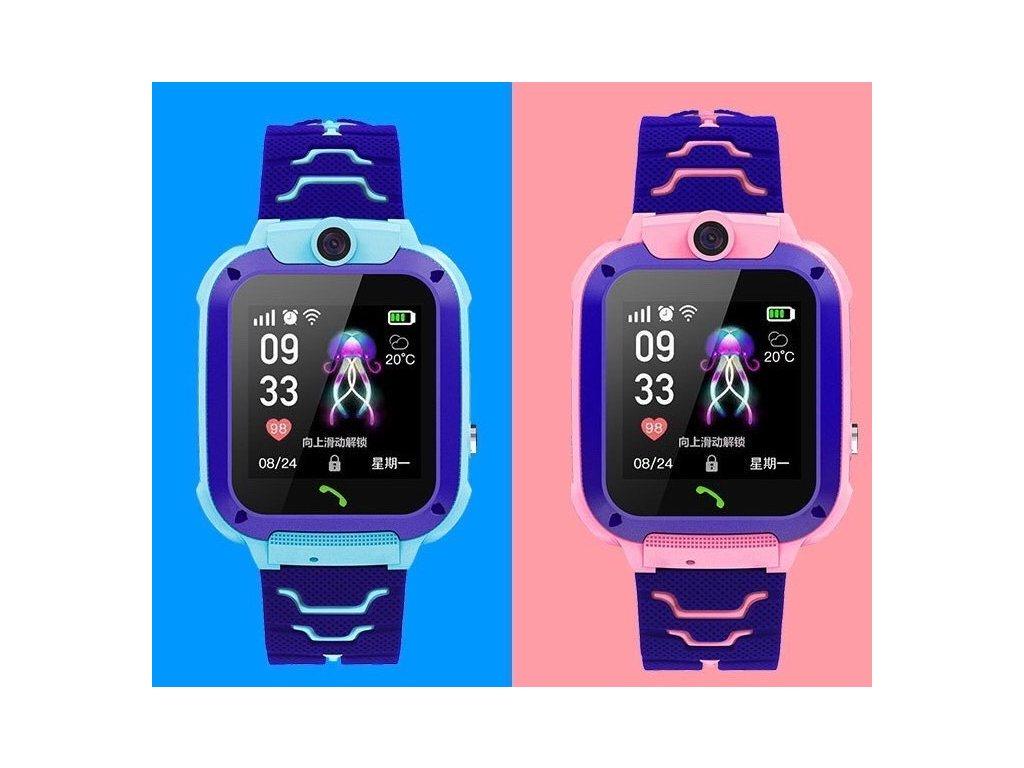 Dětské chytré hodinky s kamerou a GPS lokátorem