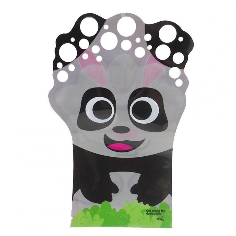 Bubbles zábavná rukavice s bublifukem - panda