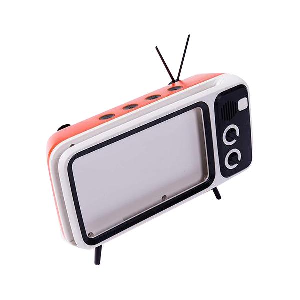 Držák mobilního telefonu s vestavěným reproduktorem - RetroTV