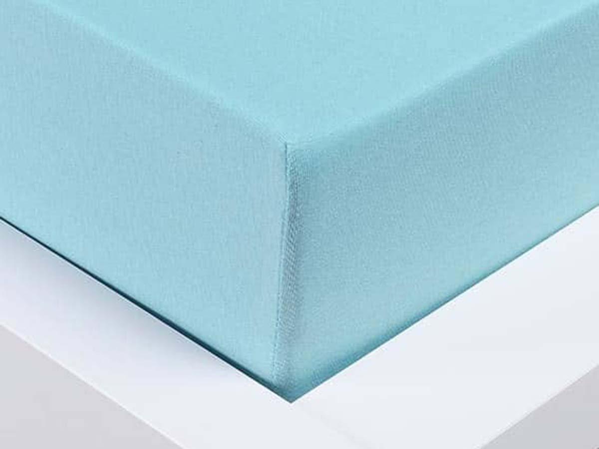 Jersey prostěradlo Exclusive dvoulůžko - světle modrá 180x200 cm