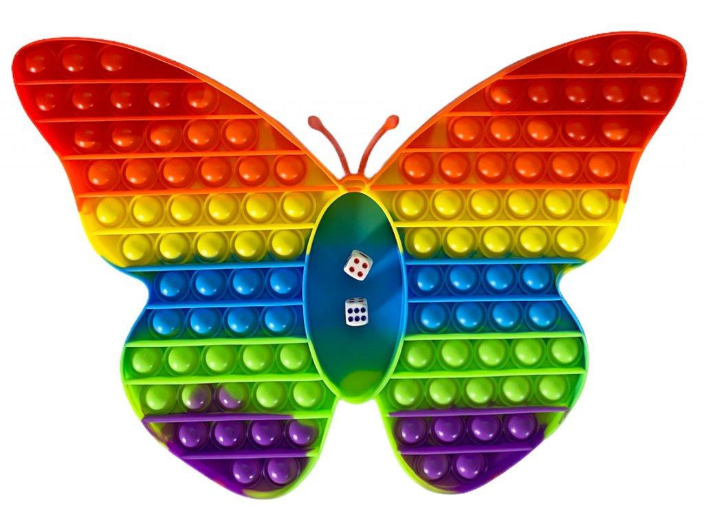 Desková hra POP IT rainbow - Motýl