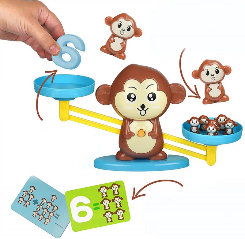Vzdělávací opička - Opičí váha s čísly