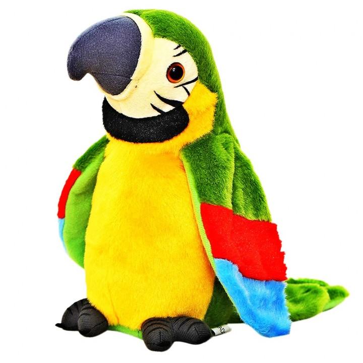 Interaktivní mluvící papoušek - zelený