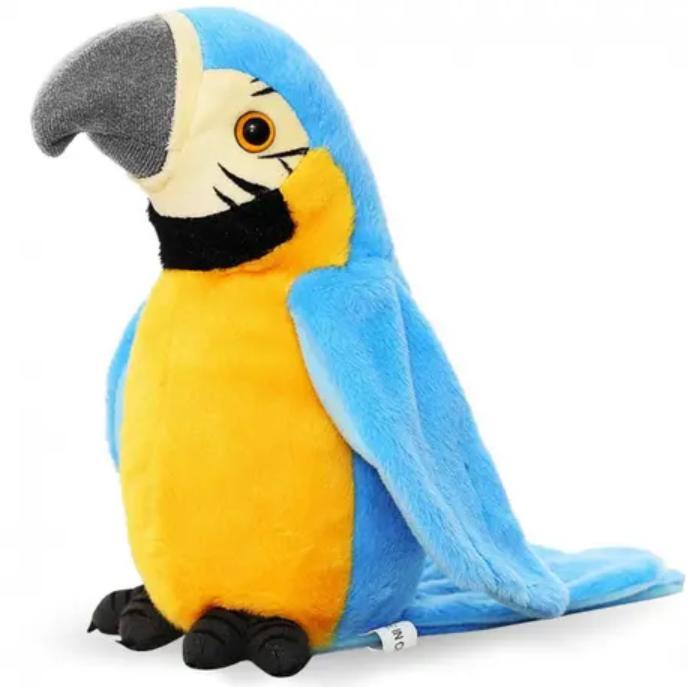 Interaktivní mluvící papoušek - modrý