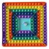 Desková hra POP IT rainbow s kostkami - čtverec