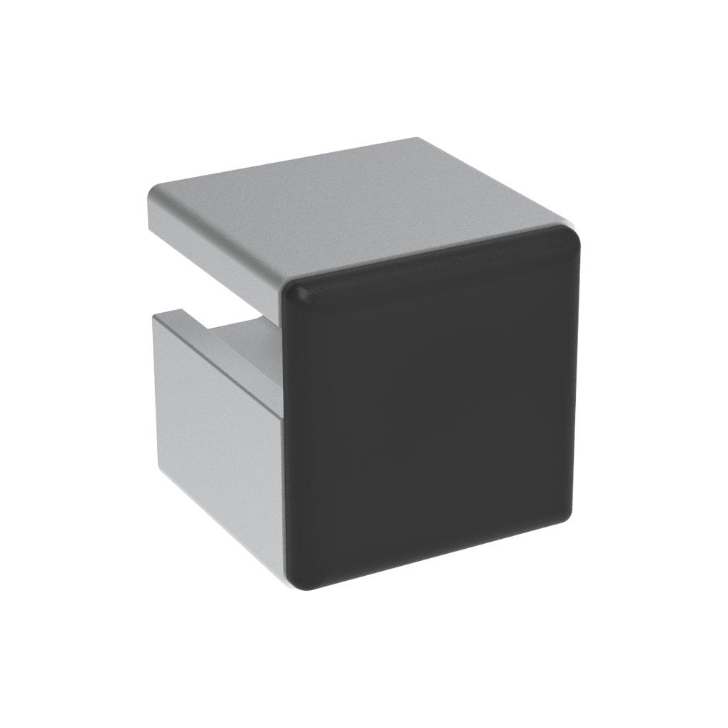 Záslepka profilu AC 30-6, 22,5x22,5, černá