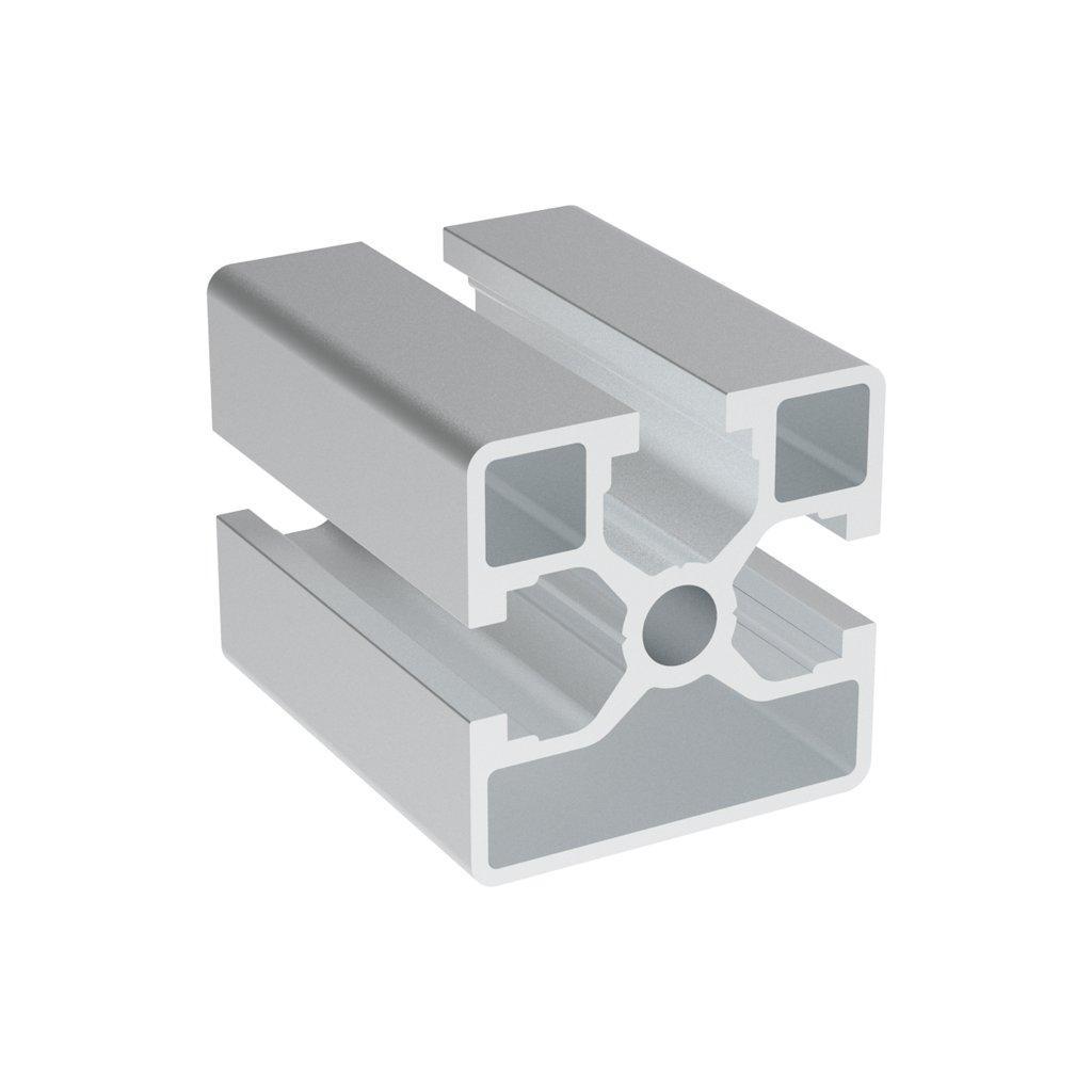Hliníkový profil AC 40-8, 40x40, se 3 drážkami