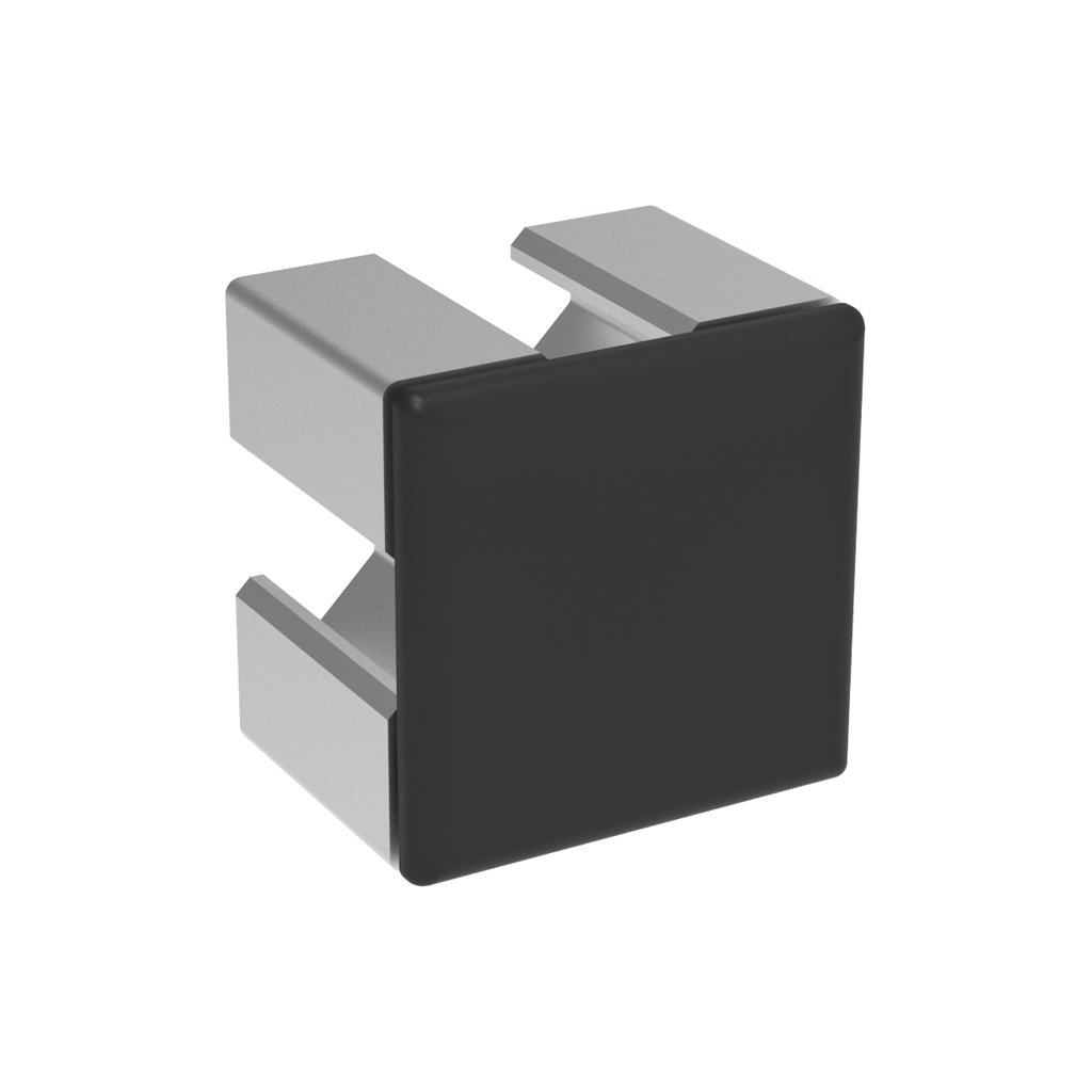Záslepka profilu BH 30-8, 30x30, černá