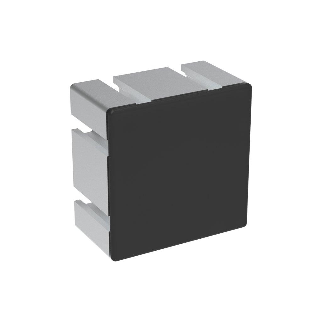 Záslepka profilu AC 40-8, 80x80, těžké provedení, černá