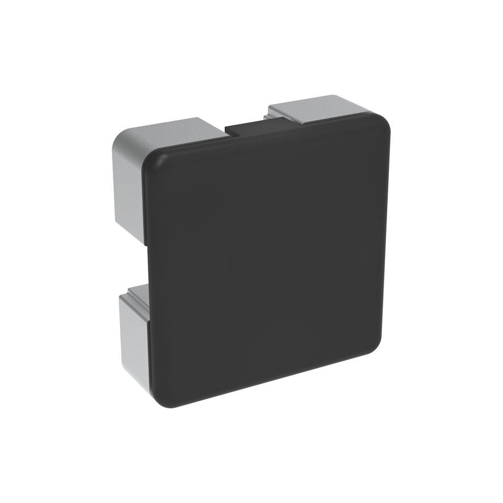 Záslepka profilu BH 40-10, 40x40, černá