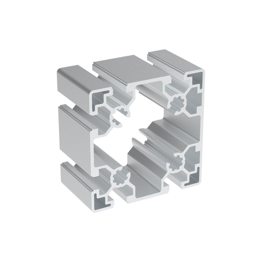 2280 hlinikovy profil bh 45 10 90x90 s drazkami na 3 sousedicich stranach