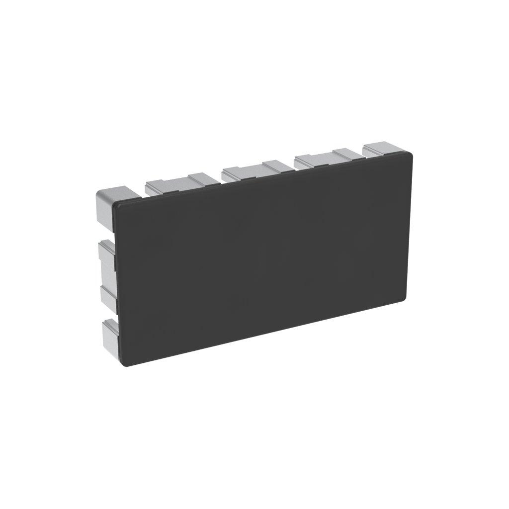Záslepka profilu BH 45-10, 90x180, černá
