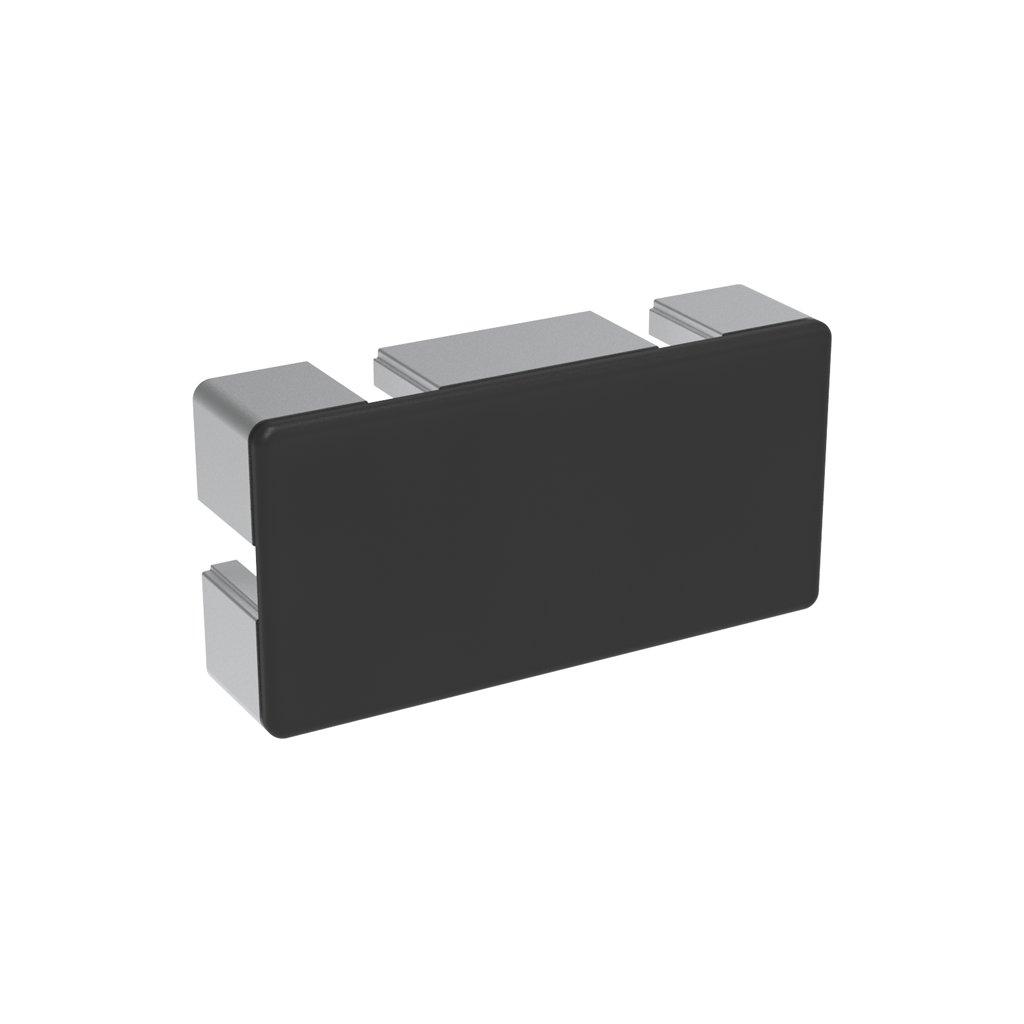 Záslepka profilu BH 50-10, 50x100, černá
