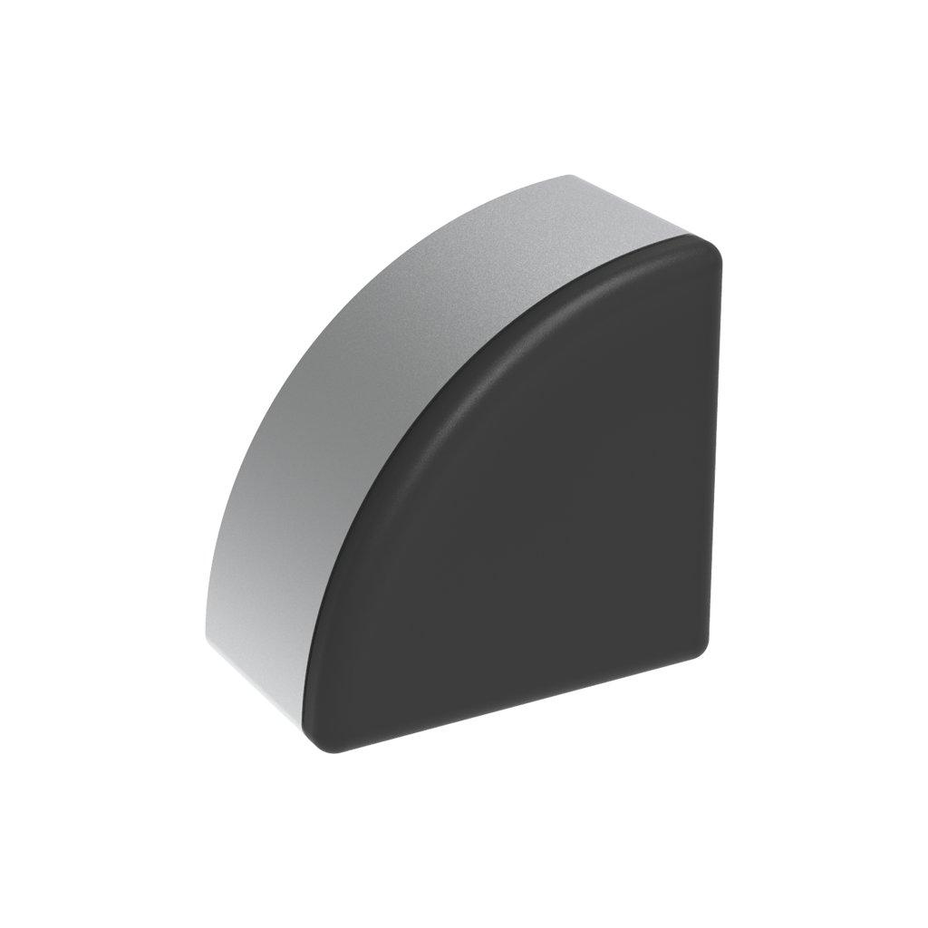 Záslepka profilu IM 40-8, 40x40, půlkulatá, černá