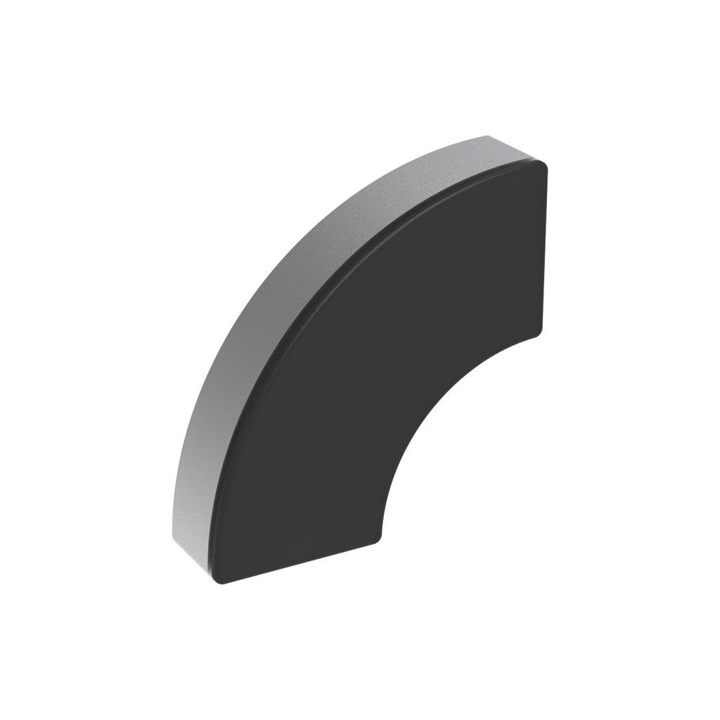 Záslepka profilu AC 45-8, 90x90, oblá, černá