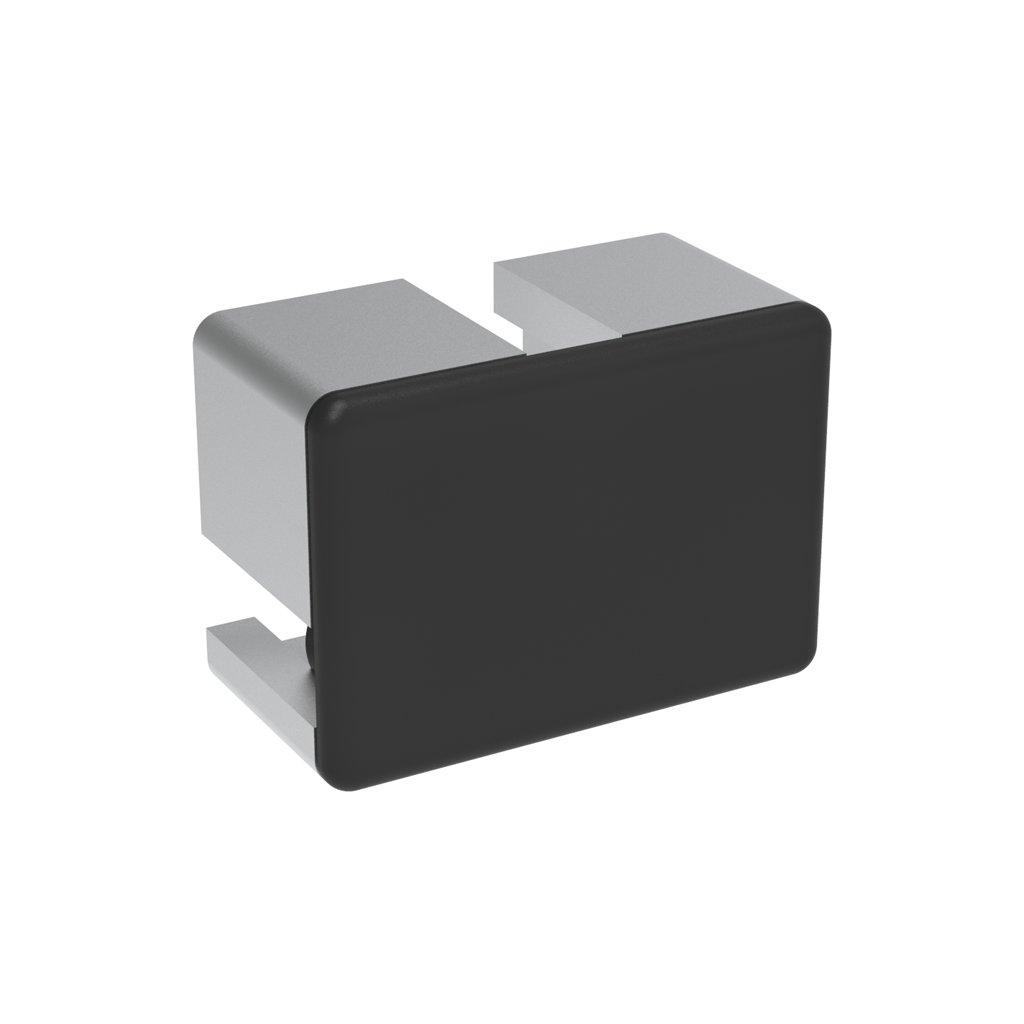Záslepka profilu AC 45-8, 32x45, černá