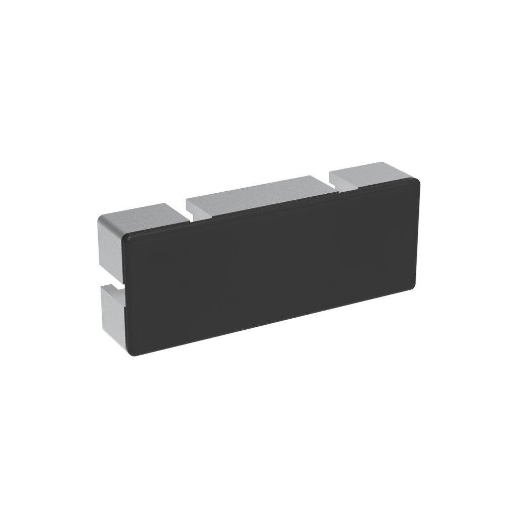 Záslepka profilu AC 45-8, 45x120, černá