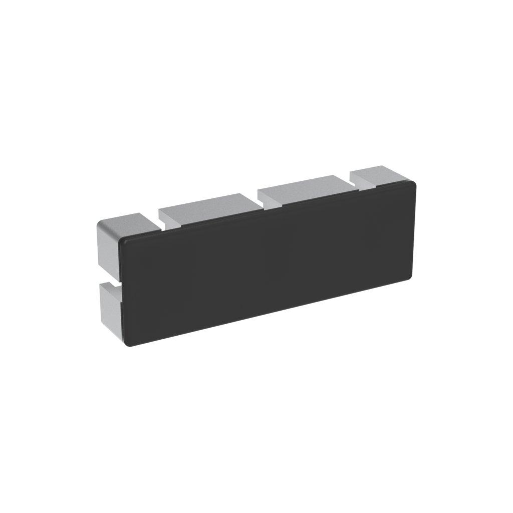 Záslepka profilu AC 45-8, 45x135, černá