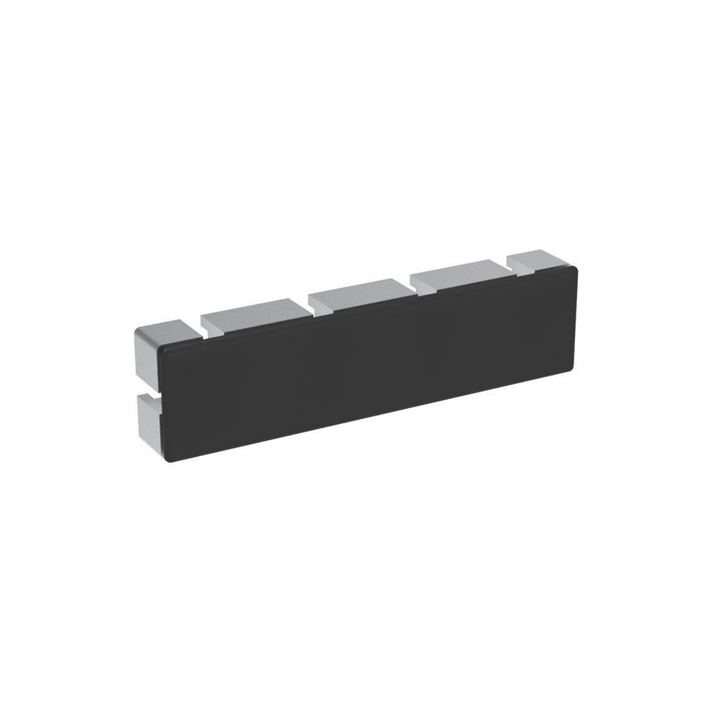 Záslepka profilu AC 45-8, 45x180, černá