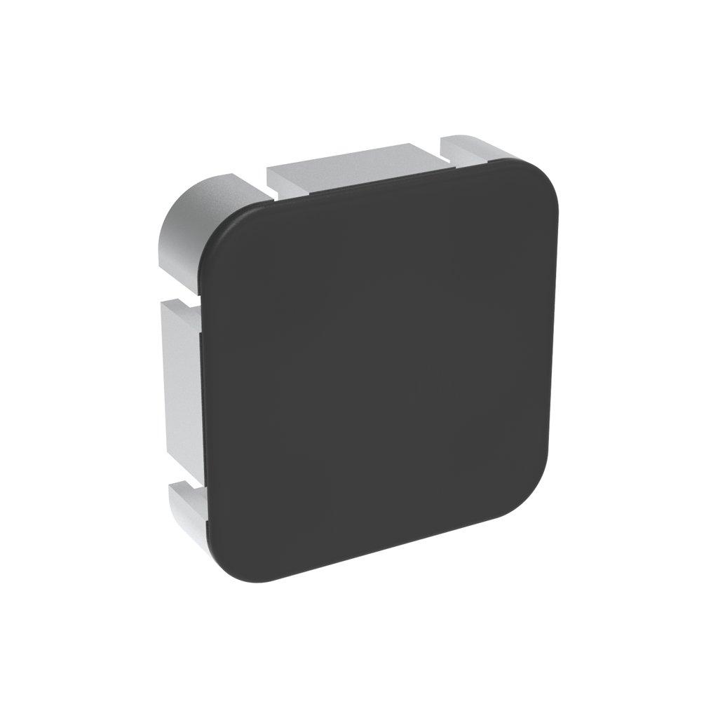 Záslepka profilu AC 45-8, 90x90, kulatá, černá