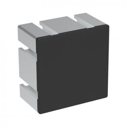 Záslepka profilu AC 40-8, 80x80, černá