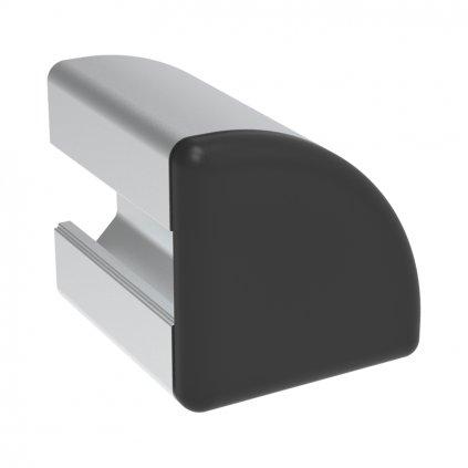 Záslepka profilu BH 20-6, 20x20, černá, půlkulatá