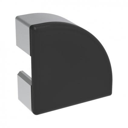 Záslepka profilu BH 30-8, 30x30 půlkulatá, černá