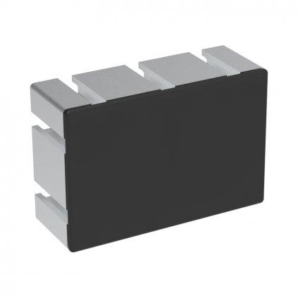 Záslepka profilu AC 40-8, 80x120, těžké provedení, černá