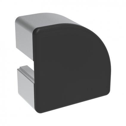 Záslepka profilu BH 45-10, 45x45 půlkulatá, černá