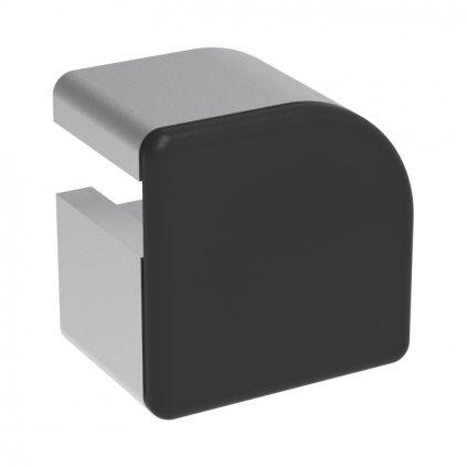Záslepka profilu AC 45-8, 32x32, půlkulatá, černá