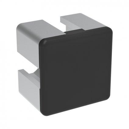 Záslepka profilu AC 45-8, 32x32 se 4 drážkami, černá