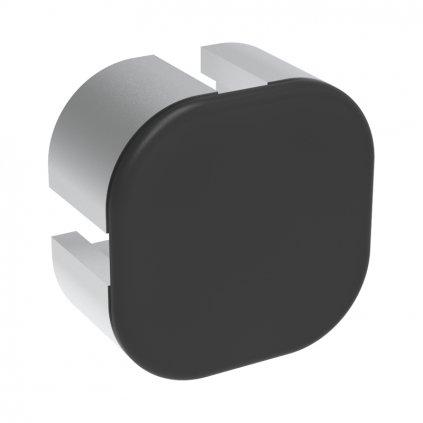 Záslepka profilu AC 45-8, 45x45, kulatá, černá
