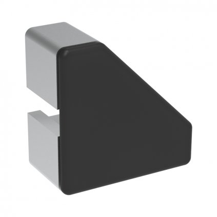 Záslepka profilu AC 45-8, 45x45, zkosená, černá
