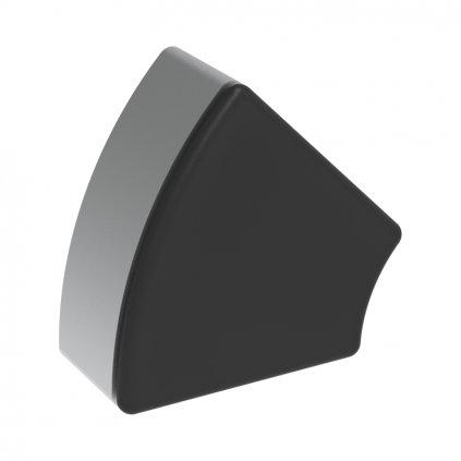 Záslepka profilu AC 45-8, 45x45°, černá